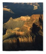 Grand Canyon Symphony Of Light And Shadow Fleece Blanket
