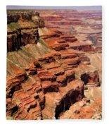 Grand Canyon Valley Depths Fleece Blanket