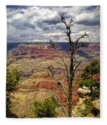 Grand Canyon View From The South Rim Fleece Blanket