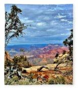 Grand Canyon View IIi Fleece Blanket