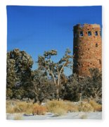 Grand Canyon Watch Tower Fleece Blanket