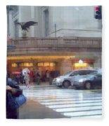 Grand Central Rain - 42nd Street Fleece Blanket