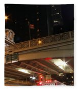 Grand Central Station At Pershing Square Fleece Blanket
