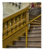 Grand Central Terminal Staircase Fleece Blanket