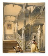 Grand Elizabethan Staircase Fleece Blanket