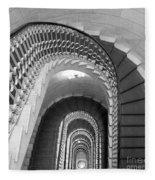 Grand Flora Stairwell Rome Italy Fleece Blanket