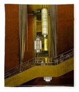 Grand Foyer Staircase Fleece Blanket