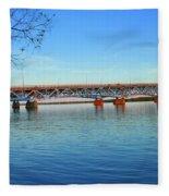 Grand Island Bridge 2 Fleece Blanket