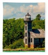Grand Island Lighthouse Fleece Blanket