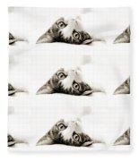 Grand Kitty Cuteness Bw 9 Fleece Blanket