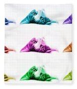 Grand Kitty Cuteness Pop Art 9 Fleece Blanket