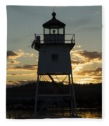 Grand Marais Mn Lighthouse 6 Fleece Blanket