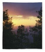 Grand Mesa Sunset Fleece Blanket