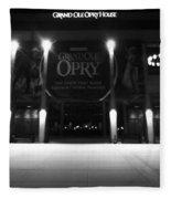 Grand Ole Opry At Night Fleece Blanket