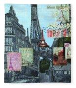 Grand Ole Paris-postcard From Paris Fleece Blanket