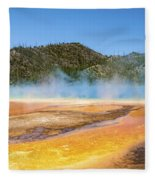 Grand Prismatic Spring - Yellowstone National Park Fleece Blanket
