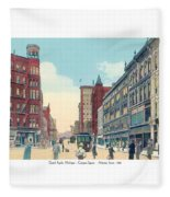 Grand Rapids - Michigan - Campau Square And Monroe Street - 1912 Fleece Blanket