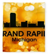 Grand Rapids Mi 3 Fleece Blanket