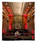 Grand Salon 01 Queen Mary Ocean Liner Fleece Blanket