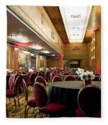Grand Salon 05 Queen Mary Ocean Liner Fleece Blanket