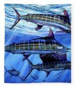Grand Slam Lure And Tuna Fleece Blanket