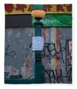 Grand Street Subway Station In Chinatown Manhattan Fleece Blanket