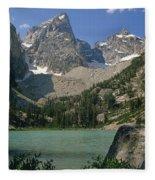 1m9387-v-grand Teton And Delta Lake - V Fleece Blanket