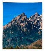 Grand Teton Mountain Fleece Blanket