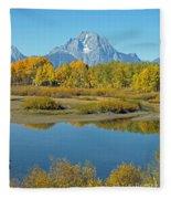 Grand Teton National Park 3 Fleece Blanket