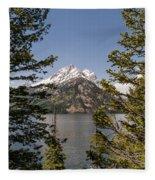 Grand Teton On Jenny Lake - Grand Teton National Park Wyoming Fleece Blanket