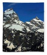 Grand Tetons Wyoming Fleece Blanket