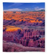 Grand View Point Evening Panorama Fleece Blanket