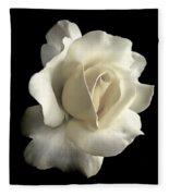 Grandeur Ivory Rose Flower Fleece Blanket