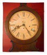 Grandfather Clock Top 1 Fleece Blanket