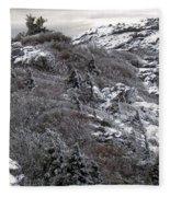 Grandfather Mountain's Linville Peak  Fleece Blanket