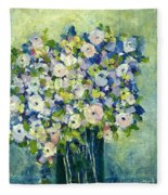 Grandma's Flowers Fleece Blanket