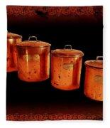 Grandma's Kitchen-copper Canister Set Fleece Blanket