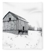 Grandpa's Barn Fleece Blanket