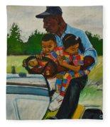 Grandpas Helpers Fleece Blanket