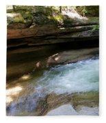 Granite Boulder And Sabbaday Brook Fleece Blanket