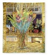 Granite Bouquet Vangogh Vision Fleece Blanket