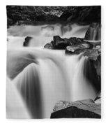 Granite Falls Black And White Fleece Blanket
