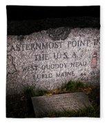 Granite Monument Quoddy Head State Park Fleece Blanket