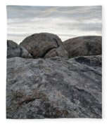 Granite Mountain Boulders Fleece Blanket