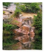 Granite Quarry And Reflections In The Missouri Ozarks Fleece Blanket
