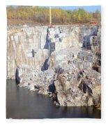 Granite Quarry, Barre, Vermont Fleece Blanket