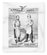 Grant And Wilson 1872 Election Poster  Fleece Blanket