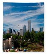 Grant Park Chicago Skyline Panoramic Fleece Blanket
