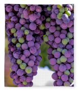 Grape Bunches Portrait Fleece Blanket