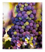 Grape Bunches Wide Fleece Blanket